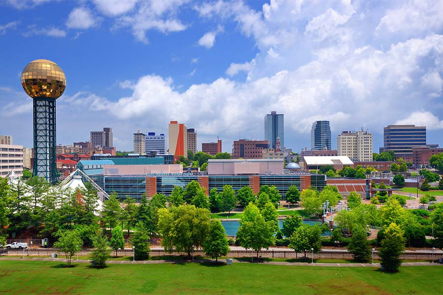 Knoxville TN - Skyline View Of Downtown Knoxville Tennessee
